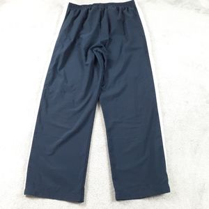 Nike Navy Blue and White Athletic Work Out Pants L
